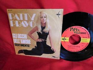 PATTY-PRAVO-Gli-occhi-dell-039-amore-45rpm-7-039-PS-1968-MINT-Retro-con-Stereo-8