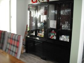 Black Gloss display cabinets for sale