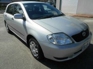 2002 Toyota Corolla ZZE122R Ascent Seca Silver 5 Speed Manual Hatchback Woodville Charles Sturt Area Preview