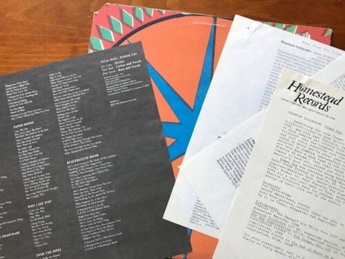 RARE PHANTOM TOLLBOOTH GUIDED BY VOICES POWER TOY LP W/ PROMO MATERIALS MATHROCK