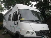 2004 HYMER B694 FOUR BERTH, REAR FIXED BED, REAR GARAGE, MOTORHOME FOR SALE