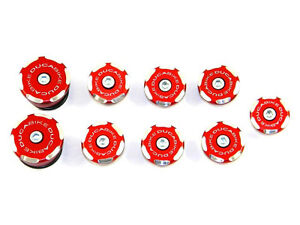 DUCABIKE Streetfighter Frame Plug Kit - Red - New