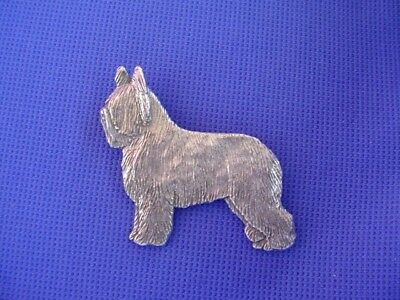 Briard Standing pin Pewter Herding Dog Jewelry by Cindy A. Conter 76A
