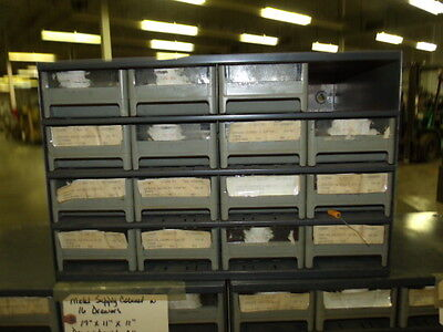 Supply Parts Bin Cabinet With 16 Drawers