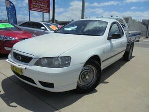 2006 Ford Falcon BF Mk II XL White 4 Speed Automatic 2D Cab Chassis Holroyd Parramatta Area Preview