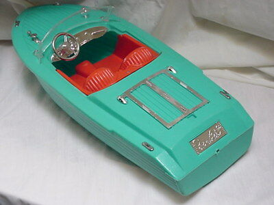 60s  BARBIE  BOAT    BY IRWIN  RARE SPEED BOAT   BEAUTIFUL !!