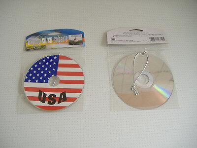 SPIEGEL CD MIRROR ROT WEIß BLAU STAR STERN MOTIV DEKO USA I (Rot, Weiß, Blau, Dekoration)