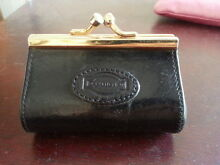 Oroton Black Leather Barrel Coin Purse Lynwood Canning Area Preview