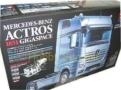 Tamiya  R C 1 14 Mercedes Benz Actros 1851 Gigaspace   Tractor Truck Kit   56335
