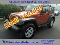 2010 Jeep Wrangler Sport! All Season Fun! 4WD! V6! Fog Lights!