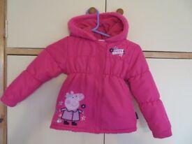 Girls Peppa Pig Coat 3-5 years