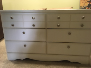 Single bed headboard and matching dresser