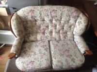 2 seater sofa and a chair