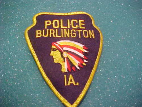 BURLINGTON IOWA POLICE PATCH SHOULDER SIZE USED