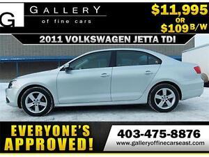 2011 Volkswagen Jetta TDI $109 bi-weekly APPLY NOW DRIVE NOW