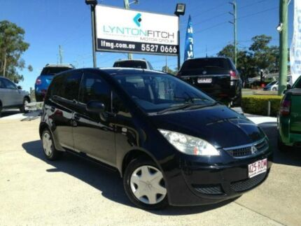 2006 Mitsubishi Colt RG MY07 LS Black 5 SPEED Semi Auto Hatchback Southport Gold Coast City Preview