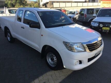 2014 Toyota Hilux GGN15R MY14 SR White 5 Speed Automatic X Cab Pickup North Strathfield Canada Bay Area Preview