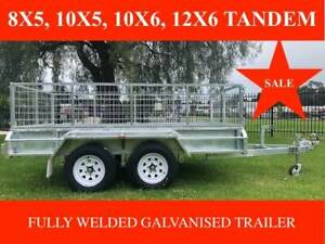 10x6 Tandem Trailer Hot Dip Galvanised 600mm Cage 2t ATM New Tyres Moorabbin Kingston Area Preview