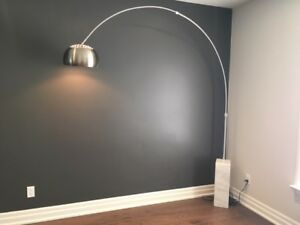 Arc Lamp with Solid Marble base
