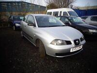 2003(53reg) Seat Ibiza 1.2 3 Door 65,000 Miles MOT'd DEC £795