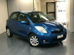 2009 Toyota Yaris NCP90R MY09 Edge Blue 4 Speed Automatic Hatchback Mill Park Whittlesea Area Preview