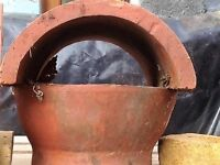 Brand new Terracotta Chimney Pots x 2 small size