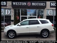 2010 Buick Enclave CXL* AWD* SPORT* DVD* FULLY LOADED