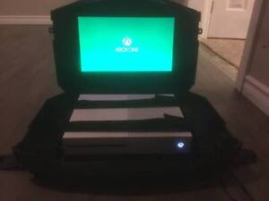 Video Game Console Case Built in Screen