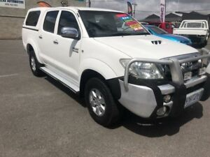 2009 Toyota Hilux KUN26R 08 Upgrade SR5 (4x4) White 4 Speed Automatic Dual Cab Pick-up