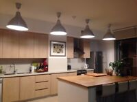 4 x Large Ikea Ceiling Laps, plus 6 working 20W 1200 Lm bulbs
