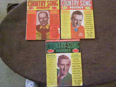 3 Lot 1950 COUNTRY SONG ROUNDUP Magazine Music Songbook Pictures Lyrics - 1950 Song Lyrics