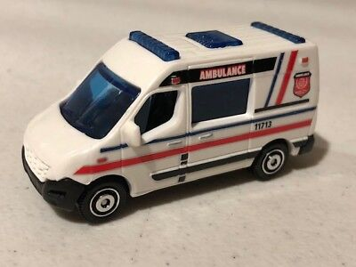Matchbox 2011 Renault Master Ambulance, White, Loose, Very NICE, 1/64