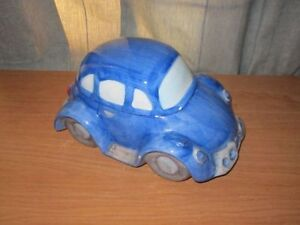 Cookie Jar Volkswagen BLUE Bug CAR