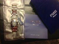 Paris Jewellers Timepiece Silver Tone Tungsten & Diamond Watch Fredericton New Brunswick Preview