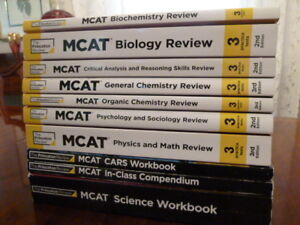 MCAT Princeton Review 10 Book Set 2/3 Ed + Slides + Study Notes