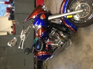 Complete tins with custom paint, bags and fairing $1200 OBO