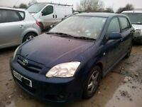 TOYOTA COROLLA 1.6 PETROL BREAKING FOR SPARES TEL 07814971951