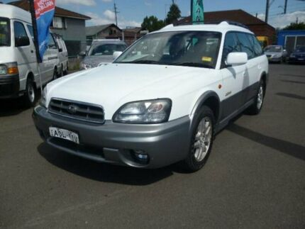 2003 Subaru Outback MY03 White 4 Speed Automatic Wagon Holroyd Parramatta Area Preview
