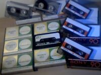 SONY CHF FX1 HF & C-HF CASSETTE TAPES x10 JOB LOT OR BUY ONLY THOSE THAT YOU WANT. 1 OF MANY OFFERS