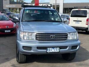 2002 Toyota Landcruiser FZJ105R GXL (4x4) Blue 4 Speed Automatic 4x4 Wagon Burwood Whitehorse Area Preview