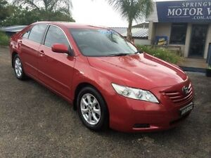 2008 Toyota Camry Maroon 5 Speed Manual Sedan Springwood Blue Mountains Preview