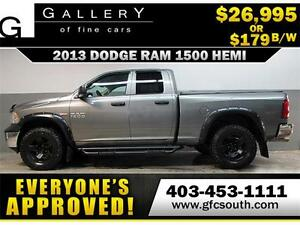 2013 DODGE RAM 1500 HEMI *EVERYONE APPROVED* $0 DOWN $179/BW!
