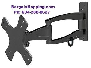 "10"" - 25"" 3-Way Adjustable Tilt & Swivel TV Wall Mount Bracket"