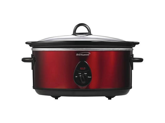 Brentwood 6.5-Quart Slow Cooker Red SC-150R
