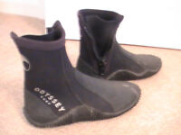 Odyssey Dry socks/boots with zips and good strong tred,ladies size 5/6