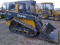 2012 John Deere 323D Compact Track Loader- Low Hou