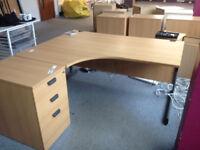 Beech Radial Desks