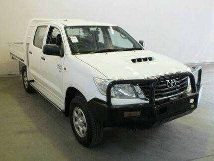 2012 Toyota Hilux KUN26R MY12 SR (4x4) Glacier White 5 Speed Manual Dual Cab Chassis Westdale Tamworth City Preview