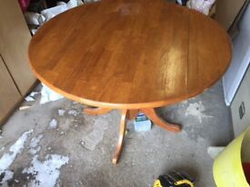 Dining table and matching coffee table for sale