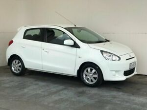 2013 Mitsubishi Mirage LA MY14 LS White 5 Speed Manual Hatchback Mount Gambier Grant Area Preview